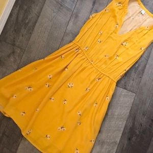 Mustard color summer dress